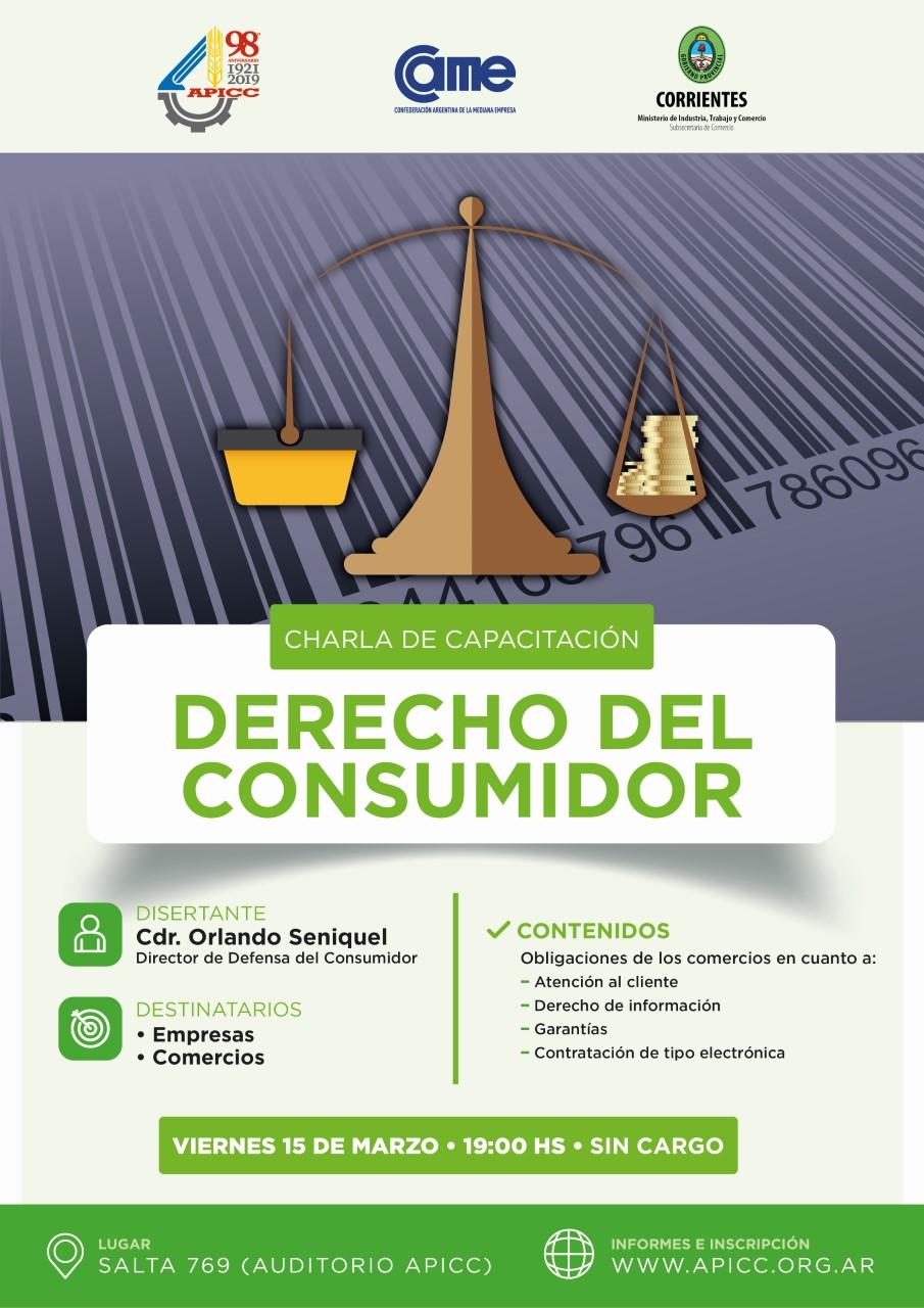 Comercio dictará una charla gratuita sobre derechos del consumidor