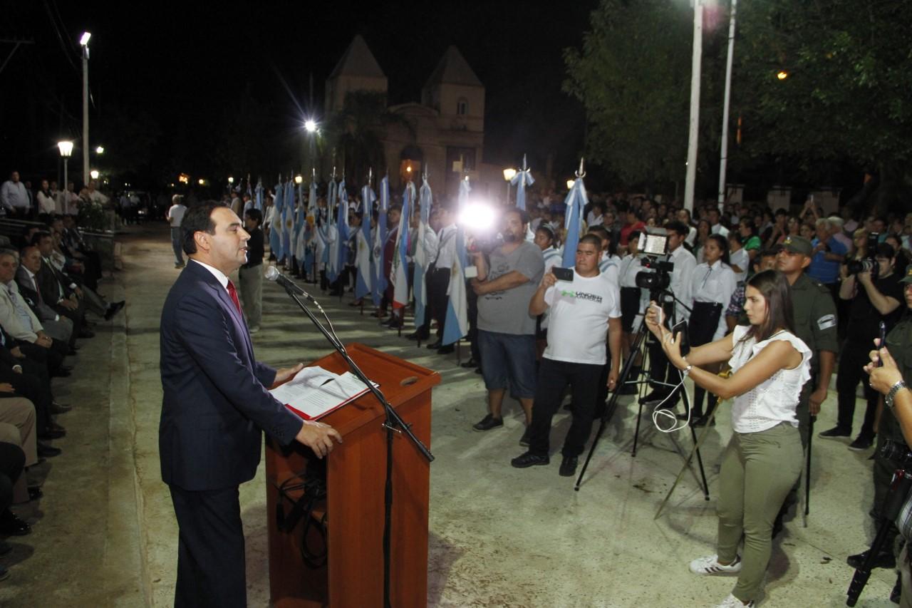 Junto a la comunidad, el gobernador Valdés encabezó la celebración de Berón de Astrada