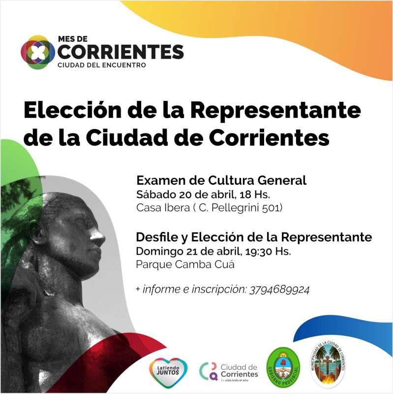 Corrientes se prepara para elegir a la nueva representante de la Ciudad