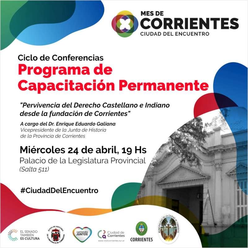 Nueva conferencia en el mes de Corrientes con la historia de la ciudad