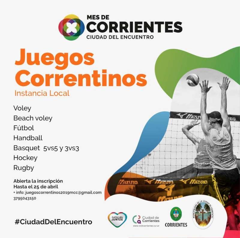 Está abierta la inscripción para la instancia Local de los Juegos Correntinos 2019