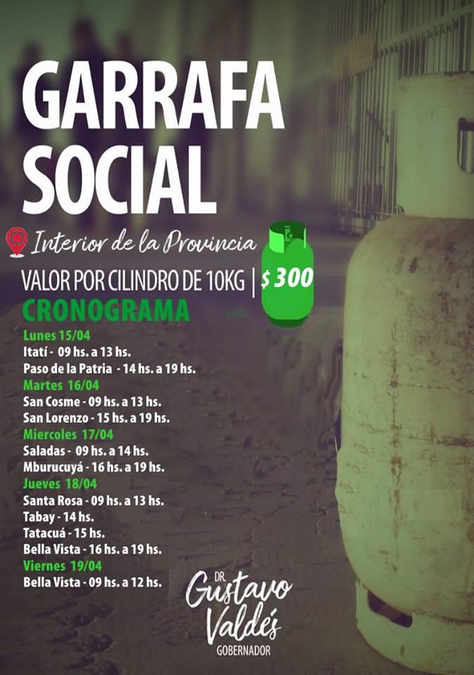 Nuevo Cronograma de la Garrafa Social