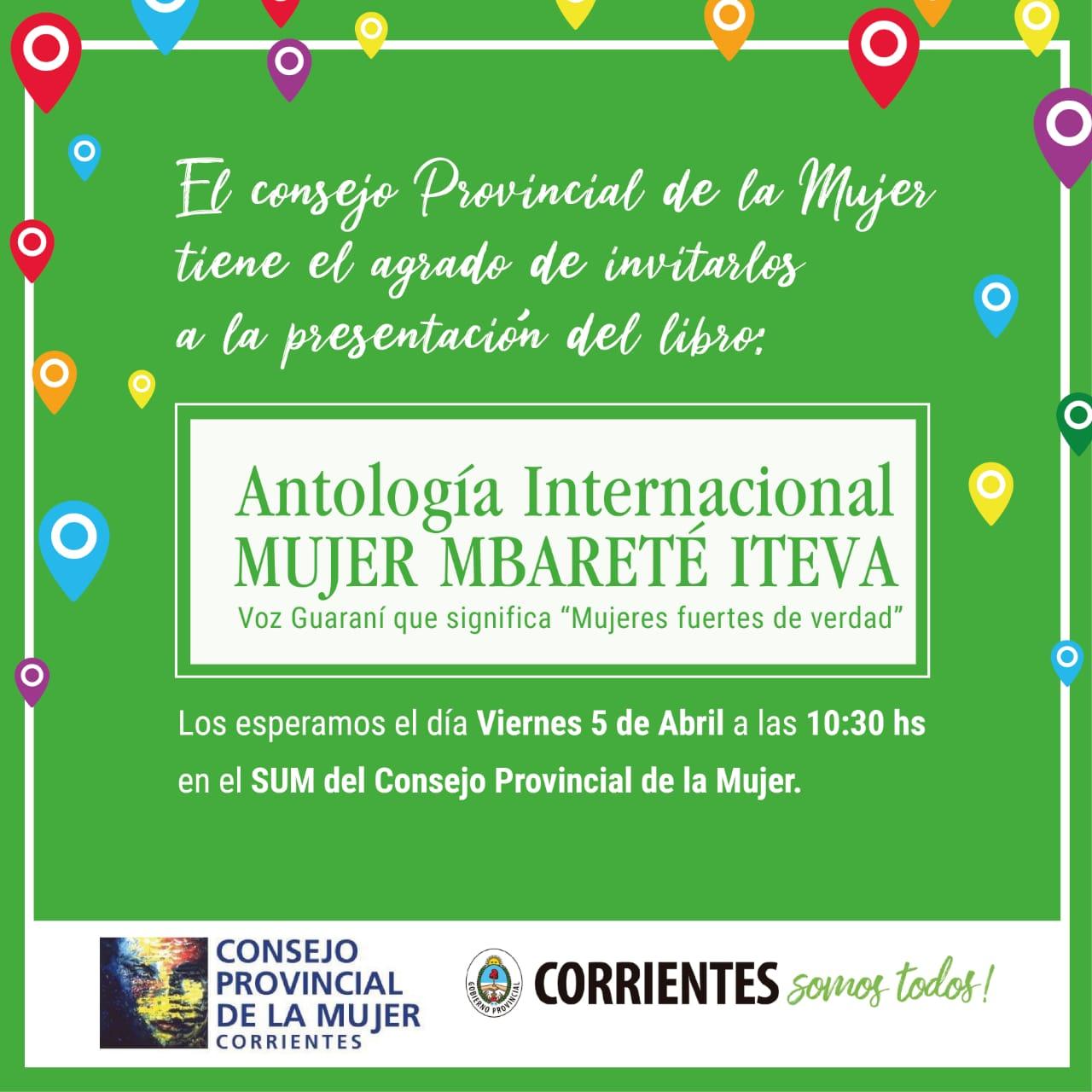 Presentación del Libro Antología Internacional Mujer Mbareté Iteva