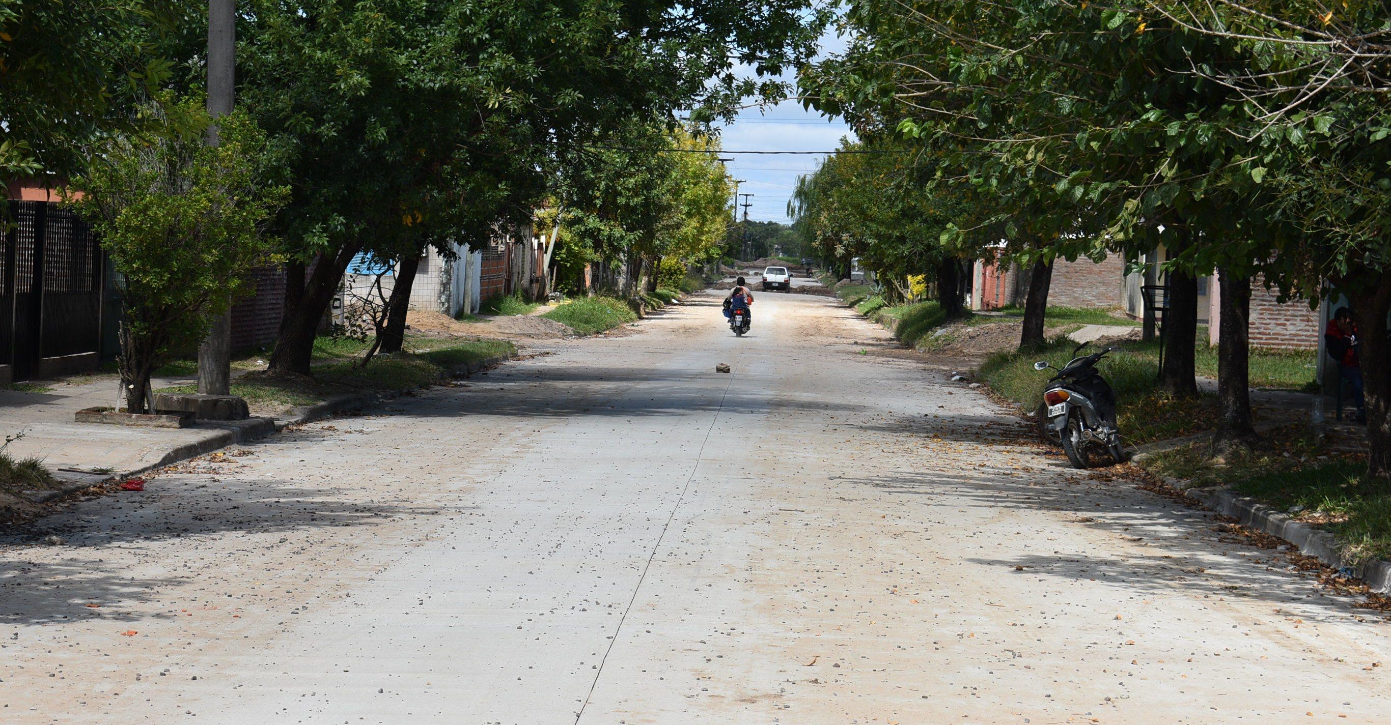 Se terminaron de pavimentar 500 metros de la calle Turín