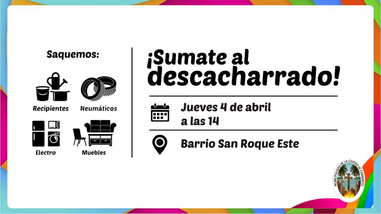 El descacharrado municipal llega el jueves al barrio San Roque Este