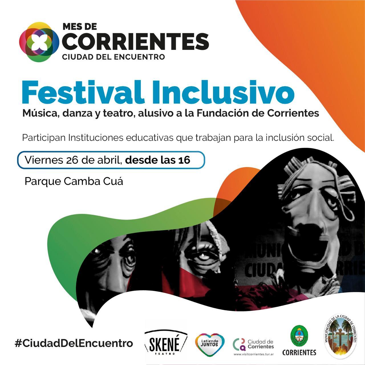 Festival inclusivo por la Fundación de Corrientes