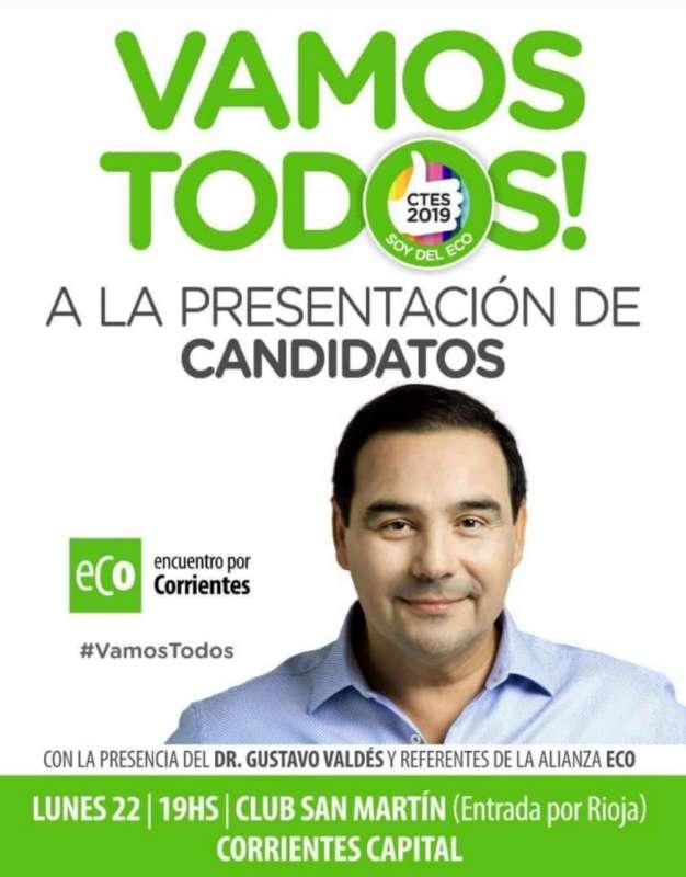 Encuentro por Corrientes presenta sus candidatos