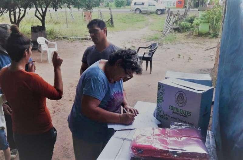 Desarrollo Social profundizó la asistencia el Itatí, Ramada Paso y los Parajes Guayu y Las Palmiras