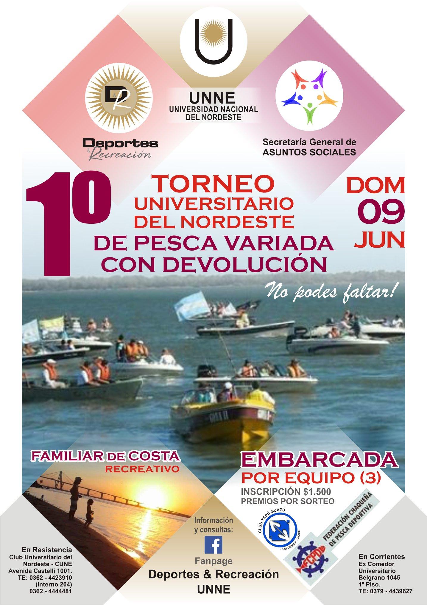 La UNNE lanza el 1º Torneo Universitario de Pesca