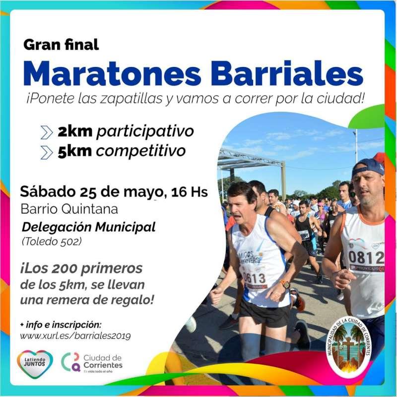 Finalizará el sábado en el Quintana la etapa otoño-invierno de los Maratones Barriales