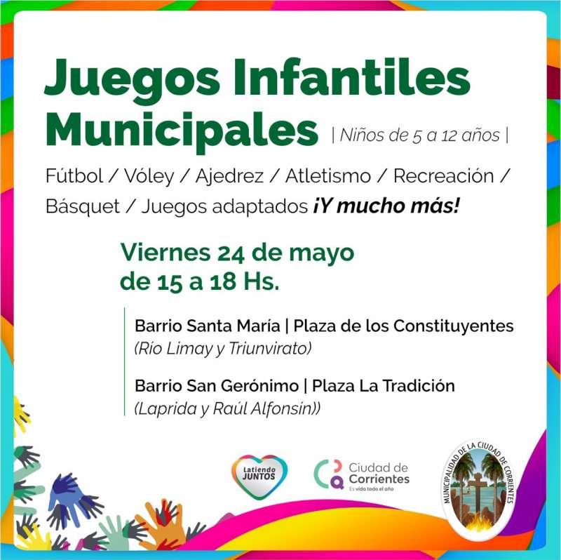 Los barrios Santa María y San Gerónimo reciben éste viernes a los Juegos Infantiles