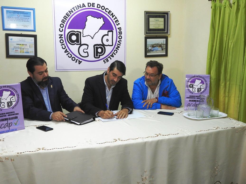 Se firmó convenio entre Subsecretaría de Trabajo y la ACDP para brindar más capacitaciones en oficios