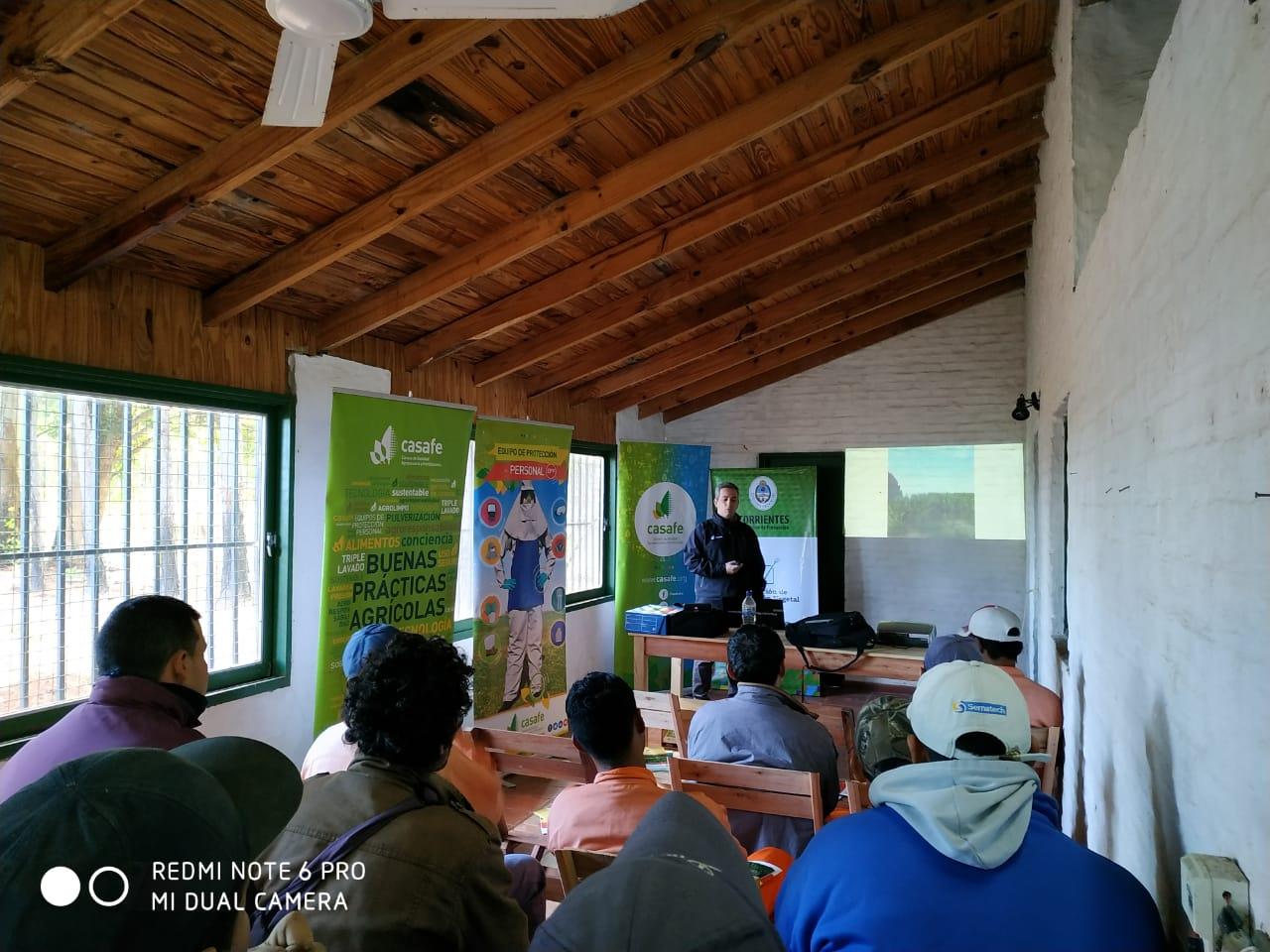 Curso en Santa Rosa para aplicadores de fitosanitarios