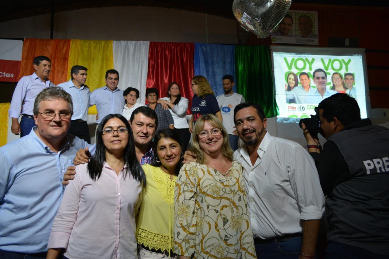 Candidatos de ECO recorren la provincia garantizando respaldo a la política de desarrollo industrial del gobernador Valdés