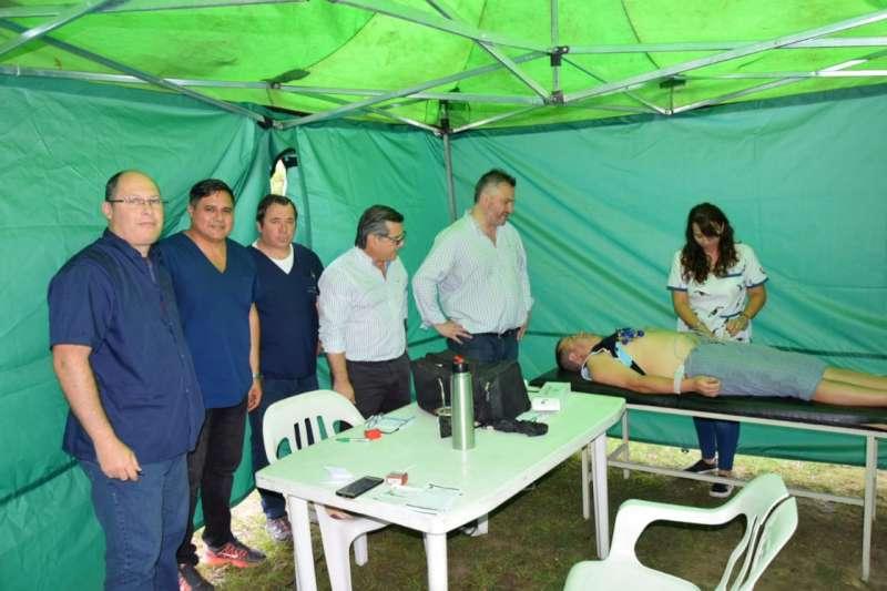 El Ministro Alvarez acompañó el operativo de salud en Capital