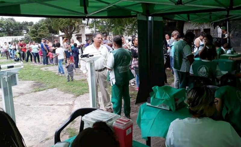 La Provincia realizó un operativo de salud en el barrio Bañado Norte