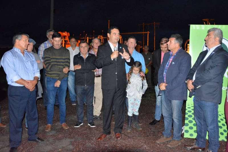 Valdés inauguró la sub estación transformadora de Paso Tala