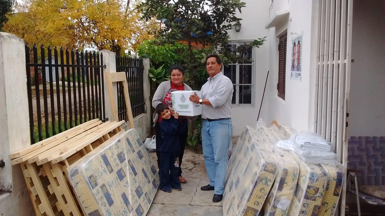 Desarrollo Social brindo inmediata asistencia  a familia en el B Chiquita