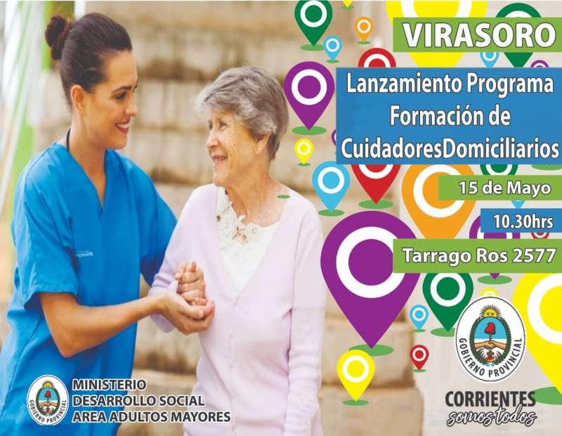 """Este miércoles 15 Desarrollo Social realiza  Lanzamiento  del  Programa Nacional de Formación """"Cuidadores Domiciliario"""""""