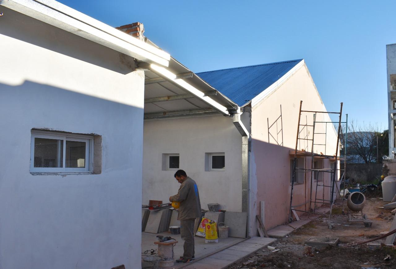Está  en un 75% de ejecución la  refacción y ampliación del hogar María de Nazareth