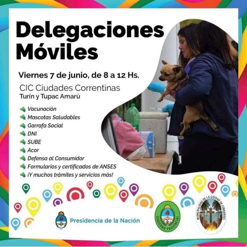 El programa Delegaciones Móviles llega este viernes  a Ciudades Correntinas