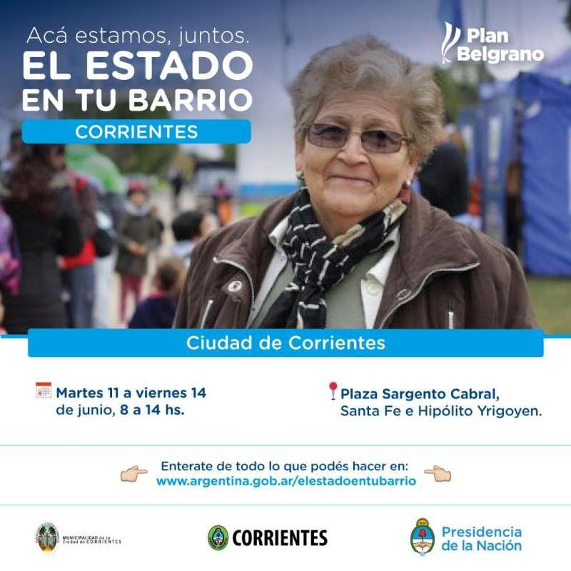 El Estado en tu Barrio la próxima semana en la plaza Cabral