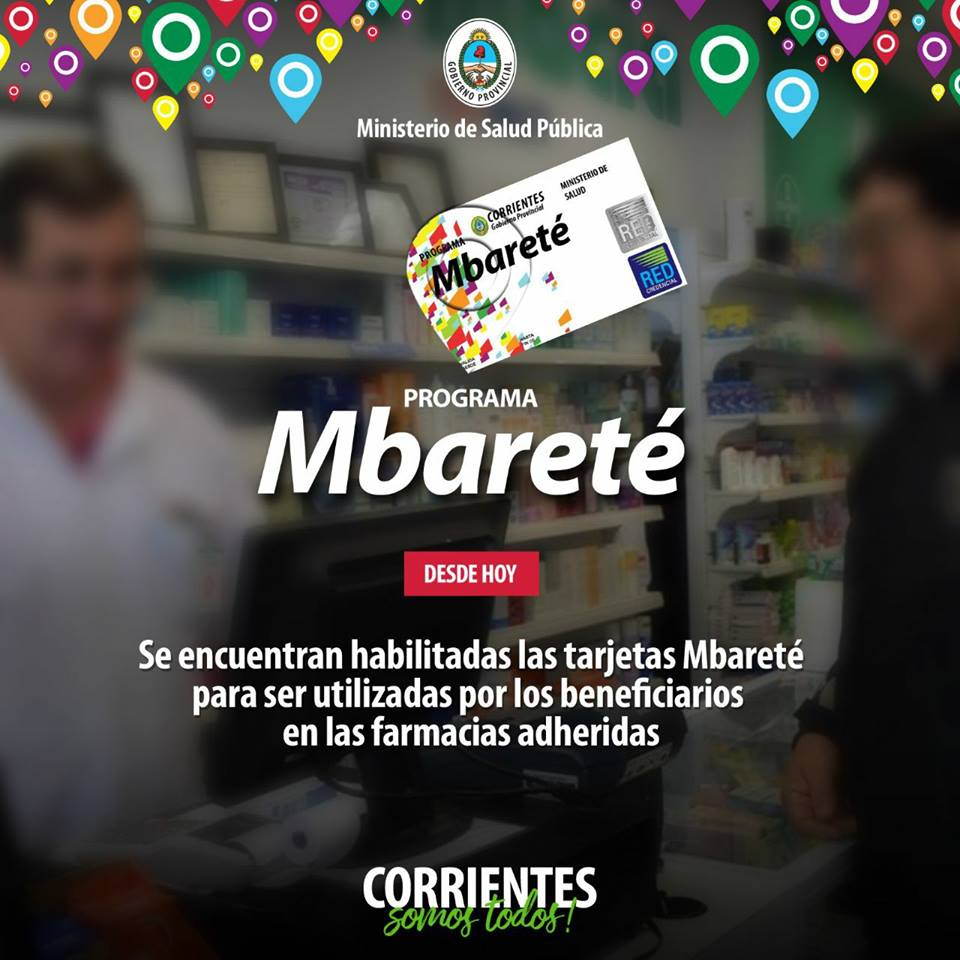 Se encuentran habilitadas las tarjetas Mbareté y Mamá Mbareté