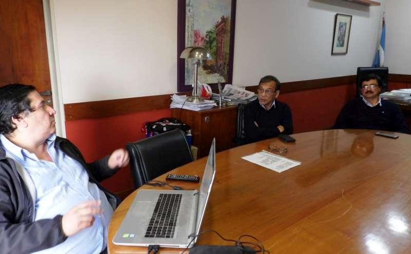 Cardozo coordinó la continuidad de mejoras edilicias en el hospital de Esquina