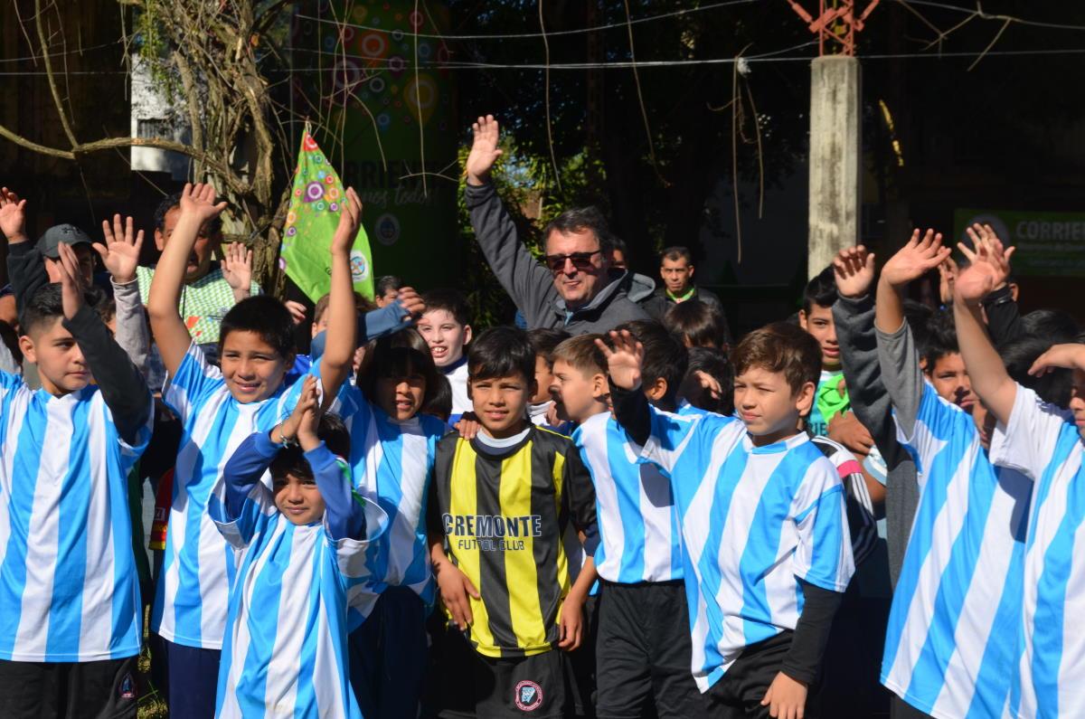 Más de 300 chicos disfrutaron la jornada deportiva y recreativa en el Centro Deportivo Dolly
