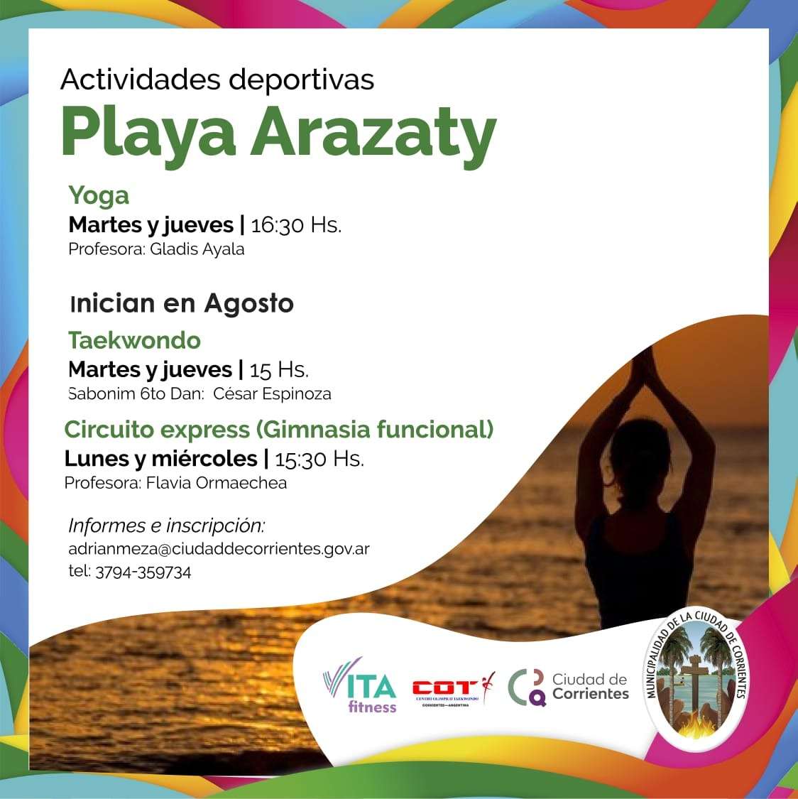 La Playa Arazaty con actividades recreativas todo el año