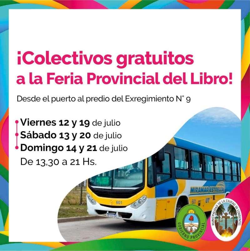 Feria Provincial del Libro, colectivos gratis desde el puerto hasta el predio del Exregimiento