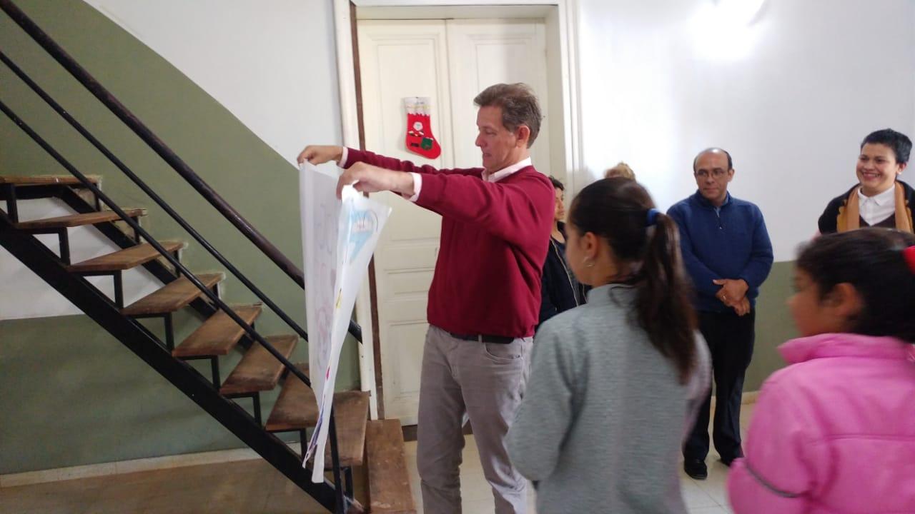 El Ministro Diógenes González visitó el Hogar San Francisco de Asís