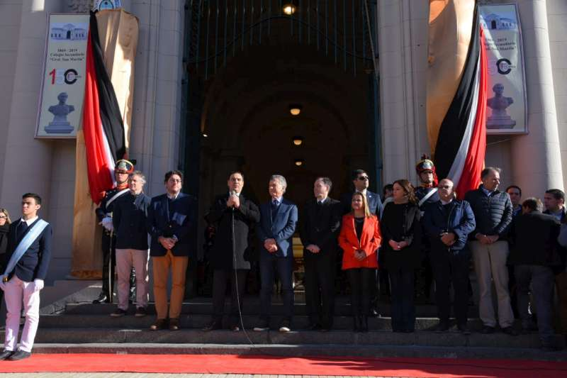 El Presidente Macri y el Gobernador Valdés acompañaron a la comunidad educativa del Colegio San Martín en su 150° Aniversario