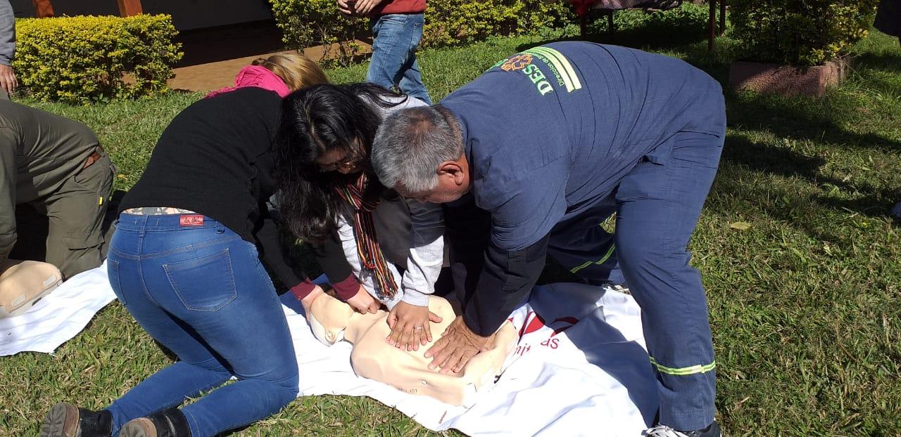 Salud Pública realizó un curso de primeros auxilios y RCP para guardaparques