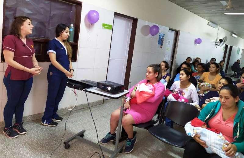 El Hospital Llano cerró con una charla la Semana de la Lactancia Materna