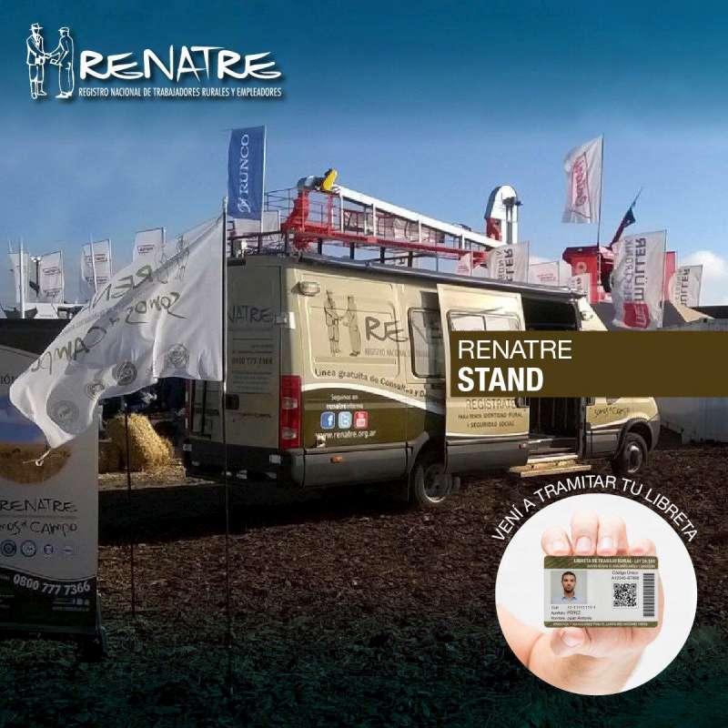 La oficina móvil de Renatre está en Expoagro Corrientes