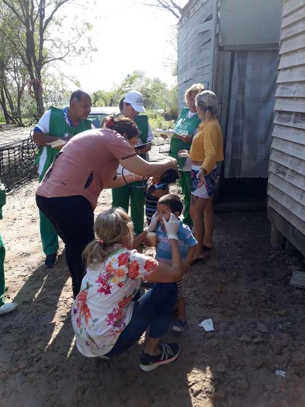 La Provincia realizó un operativo sanitario en el barrio Punta Taitalo