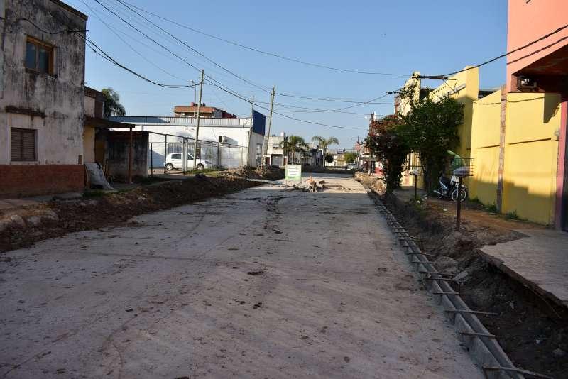 Se terminó de pavimentar el cruce de Reconquista y Braille que mejorará el tránsito en la zona