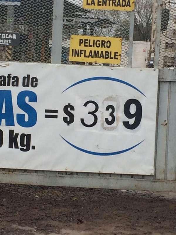 Se realizan controles del precio de venta de gas envasado