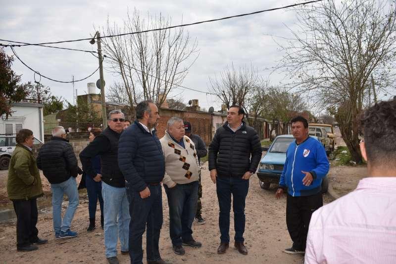 El gobernador Valdés y el ministro Polich verificaron trabajos de Vialidad en Capital