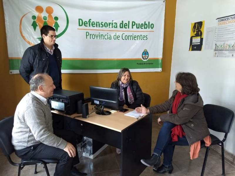 La Defensoría del Pueblo realizó una visita institucional a Esquina