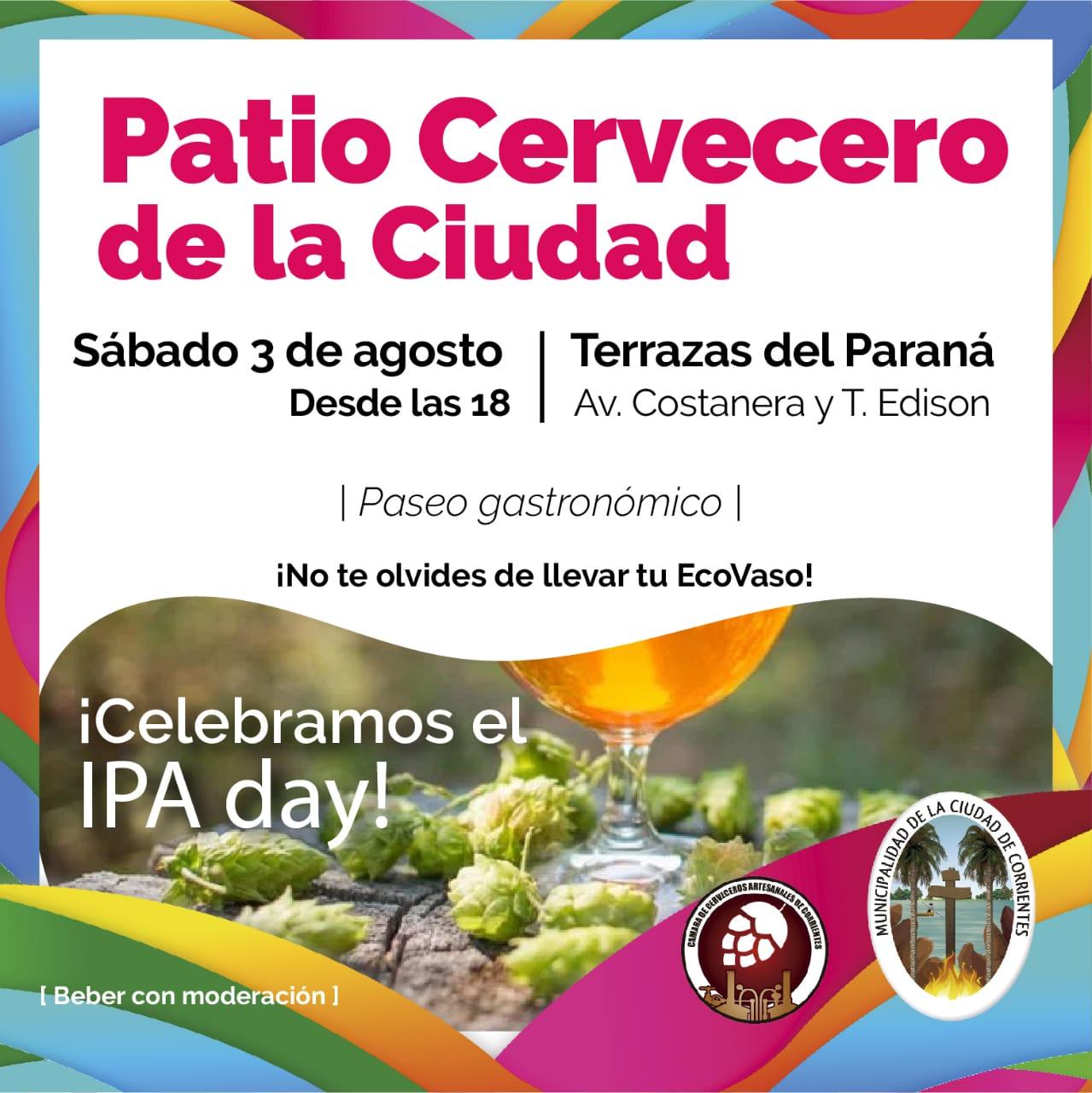 El Patio Cervecero de la Ciudad este sábado en las Terrazas del Paraná
