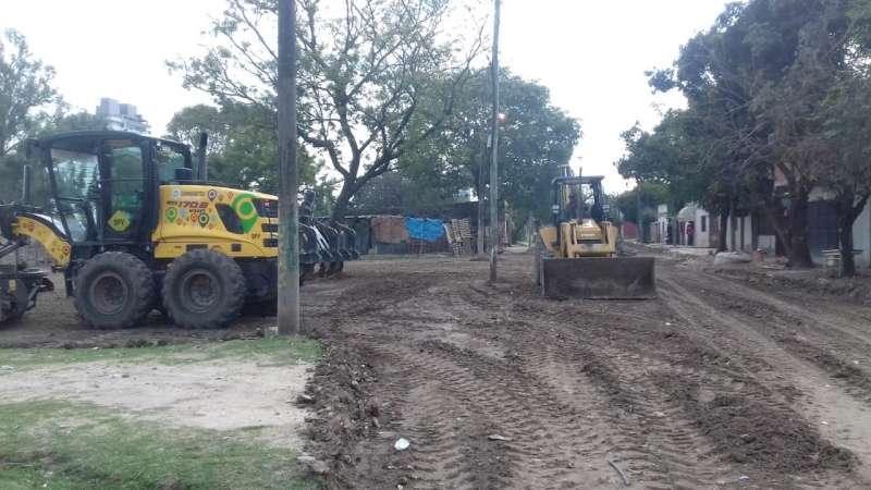 Comenzaron los trabajos para pavimentar Suipacha de Necochea a Lamadrid
