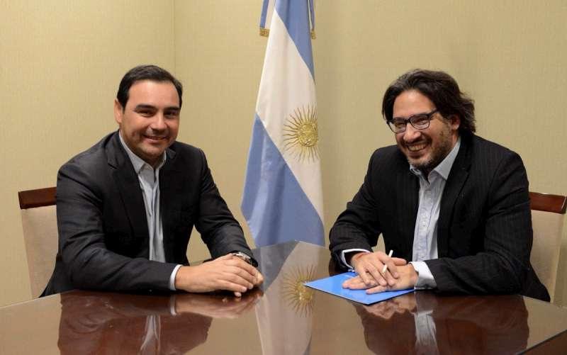 Valdés recibe a Garavano para firmar un convenio y visitar la cárcel que se construye en San Cayetano