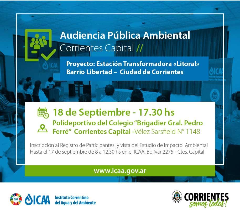 Audiencia Pública Ambiental para proyecto Estación Transformadora Litoral
