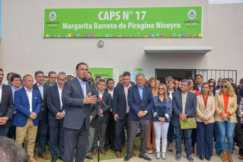 Valdés inauguró el Caps N° 17 y anunció la construcción de un Jardín de Infantes