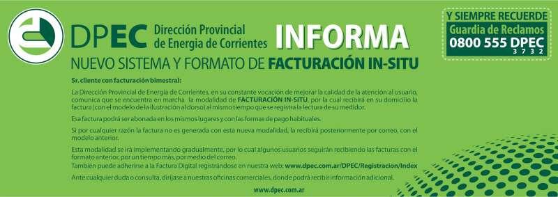DPEC. La facturación in-situ se implementará en el centro de Corrientes