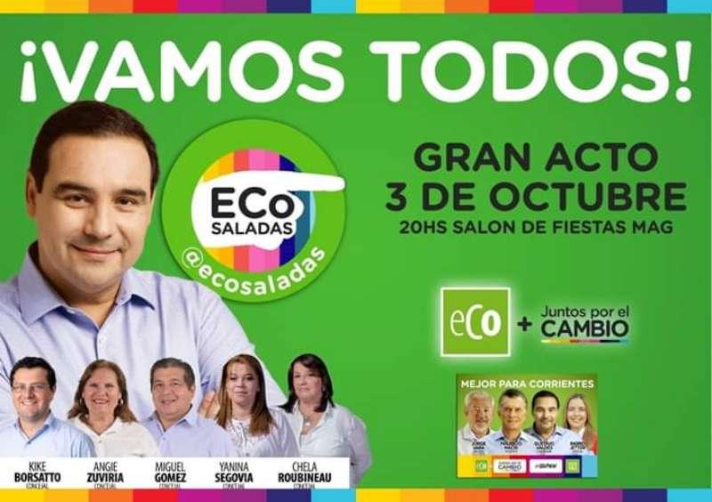 ECO presenta sus candidatos en Saladas