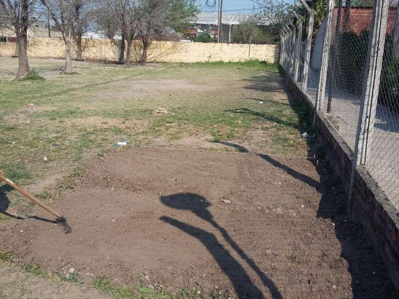 Desarrollo Social realizo acondicionamiento de terreno en Escuela Serrano