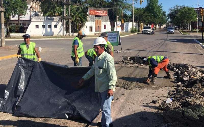 """Bachean la avenida Sarmiento a través de """"Mejoramiento Barrial"""""""